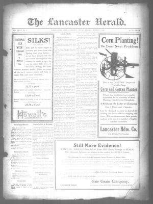 Primary view of object titled 'The Lancaster Herald. (Lancaster, Tex.), Vol. 35, No. 7, Ed. 1 Friday, March 4, 1921'.