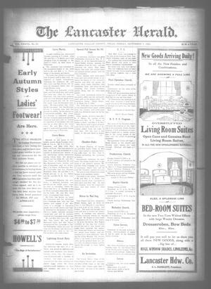 Primary view of object titled 'The Lancaster Herald. (Lancaster, Tex.), Vol. 37, No. 33, Ed. 1 Friday, September 7, 1923'.