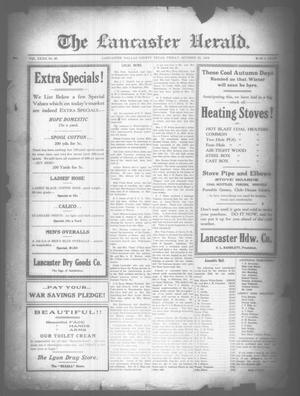 Primary view of object titled 'The Lancaster Herald. (Lancaster, Tex.), Vol. 32, No. 40, Ed. 1 Friday, October 25, 1918'.