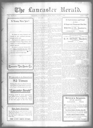 Primary view of object titled 'The Lancaster Herald. (Lancaster, Tex.), Vol. 21, No. 49, Ed. 1 Friday, January 1, 1909'.