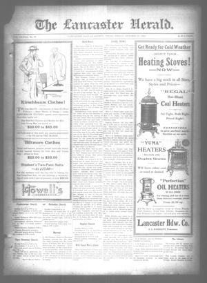 Primary view of object titled 'The Lancaster Herald. (Lancaster, Tex.), Vol. 37, No. 38, Ed. 1 Friday, October 12, 1923'.