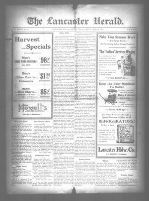Primary view of object titled 'The Lancaster Herald. (Lancaster, Tex.), Vol. 37, No. 23, Ed. 1 Friday, June 29, 1923'.