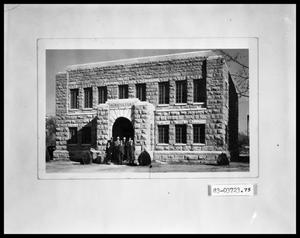 Primary view of object titled 'Building Exterior With Staff'.