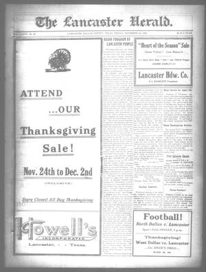 Primary view of object titled 'The Lancaster Herald. (Lancaster, Tex.), Vol. 36, No. 45, Ed. 1 Friday, November 24, 1922'.