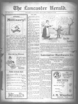 Primary view of object titled 'The Lancaster Herald. (Lancaster, Tex.), Vol. 34, No. 5, Ed. 1 Friday, February 20, 1920'.