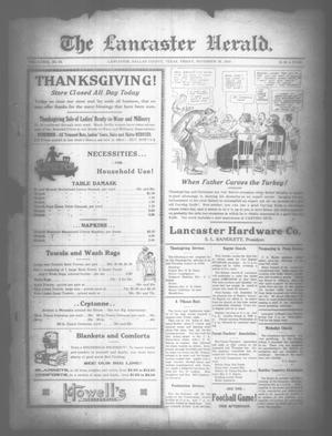 Primary view of object titled 'The Lancaster Herald. (Lancaster, Tex.), Vol. 33, No. 45, Ed. 1 Friday, November 28, 1919'.