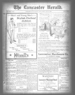 Primary view of object titled 'The Lancaster Herald. (Lancaster, Tex.), Vol. 34, No. 26, Ed. 1 Friday, July 16, 1920'.