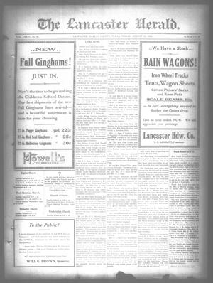 Primary view of object titled 'The Lancaster Herald. (Lancaster, Tex.), Vol. 36, No. 30, Ed. 1 Friday, August 11, 1922'.
