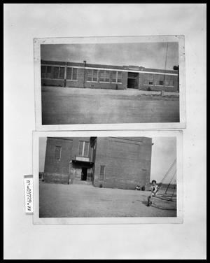 Primary view of object titled 'School Exteriors; School Exteriors and Little Girl Playing'.