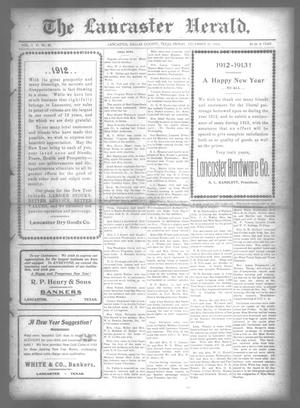 Primary view of object titled 'The Lancaster Herald. (Lancaster, Tex.), Vol. 26, No. 48, Ed. 1 Friday, December 27, 1912'.