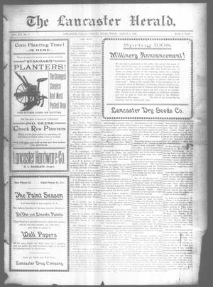 Primary view of object titled 'The Lancaster Herald. (Lancaster, Tex.), Vol. 21, No. 5, Ed. 1 Friday, March 6, 1908'.
