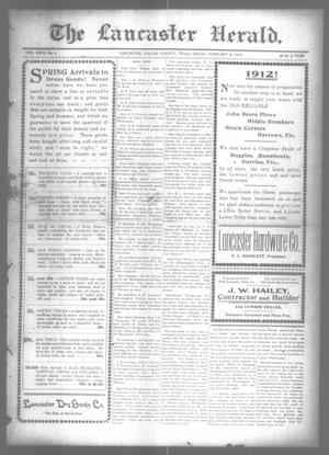 Primary view of object titled 'The Lancaster Herald. (Lancaster, Tex.), Vol. 26, No. 1, Ed. 1 Friday, February 2, 1912'.