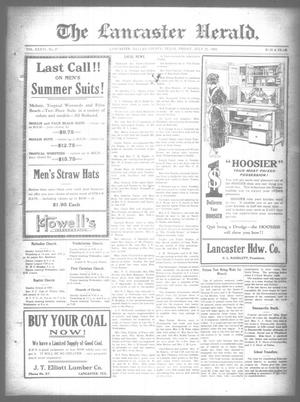 Primary view of object titled 'The Lancaster Herald. (Lancaster, Tex.), Vol. 36, No. 27, Ed. 1 Friday, July 21, 1922'.