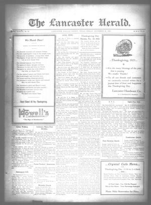 Primary view of object titled 'The Lancaster Herald. (Lancaster, Tex.), Vol. 37, No. 45, Ed. 1 Friday, November 30, 1923'.