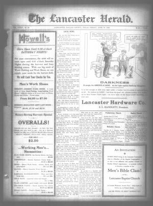 Primary view of object titled 'The Lancaster Herald. (Lancaster, Tex.), Vol. 34, No. 22, Ed. 1 Friday, June 18, 1920'.