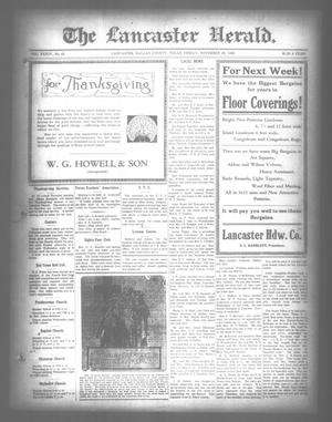 Primary view of object titled 'The Lancaster Herald. (Lancaster, Tex.), Vol. 34, No. 45, Ed. 1 Friday, November 26, 1920'.
