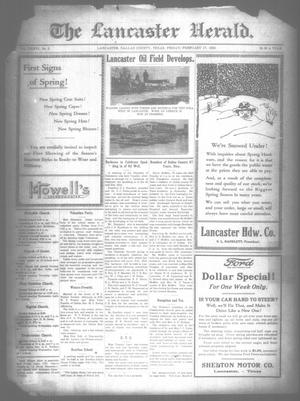 Primary view of object titled 'The Lancaster Herald. (Lancaster, Tex.), Vol. 36, No. 5, Ed. 1 Friday, February 17, 1922'.