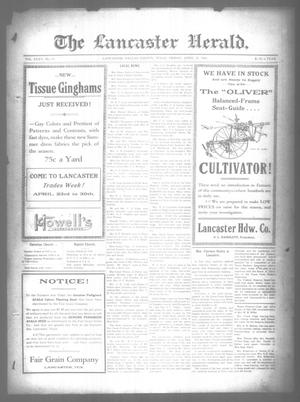 Primary view of object titled 'The Lancaster Herald. (Lancaster, Tex.), Vol. 35, No. 13, Ed. 1 Friday, April 15, 1921'.