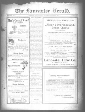 Primary view of object titled 'The Lancaster Herald. (Lancaster, Tex.), Vol. 35, No. 10, Ed. 1 Friday, March 25, 1921'.