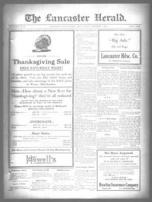 Primary view of object titled 'The Lancaster Herald. (Lancaster, Tex.), Vol. 36, No. 46, Ed. 1 Friday, December 1, 1922'.