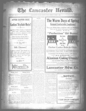 Primary view of object titled 'The Lancaster Herald. (Lancaster, Tex.), Vol. 35, No. 11, Ed. 1 Friday, April 1, 1921'.