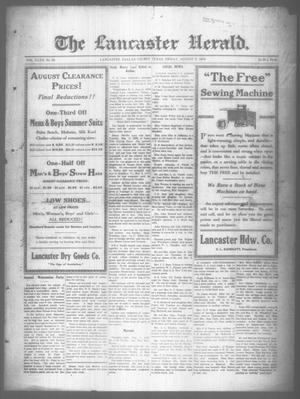 Primary view of object titled 'The Lancaster Herald. (Lancaster, Tex.), Vol. 32, No. 29, Ed. 1 Friday, August 9, 1918'.