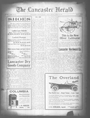 Primary view of object titled 'The Lancaster Herald. (Lancaster, Tex.), Vol. 32, No. 14, Ed. 1 Friday, April 26, 1918'.
