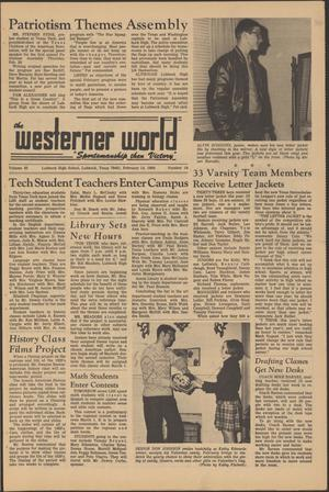Primary view of object titled 'The Westerner World (Lubbock, Tex.), Vol. 35, No. 19, Ed. 1 Friday, February 14, 1969'.