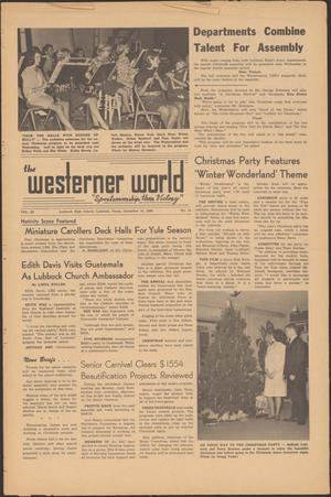 Primary view of object titled 'The Westerner World (Lubbock, Tex.), Vol. 33, No. 14, Ed. 1 Friday, December 16, 1966'.
