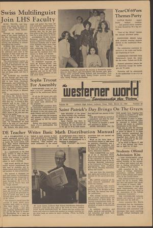 Primary view of object titled 'The Westerner World (Lubbock, Tex.), Vol. 35, No. 22, Ed. 1 Friday, March 14, 1969'.