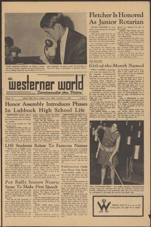 Primary view of object titled 'The Westerner World (Lubbock, Tex.), Vol. 35, No. 2, Ed. 1 Friday, September 13, 1968'.