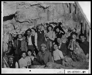 Primary view of object titled 'People in Cavern'.