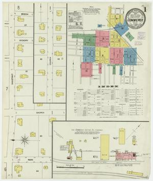 Primary view of object titled 'Commerce 1906 Sheet 1'.