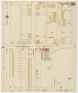 Primary view of object titled 'Fort Worth 1911 Sheet 190'.