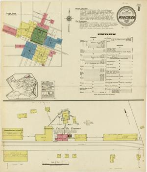 Primary view of object titled 'Winnsboro 1921 Sheet 1'.
