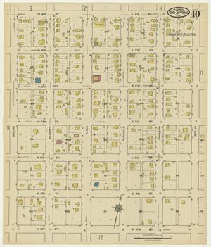 Primary view of object titled 'Big Spring 1922 Sheet 10'.