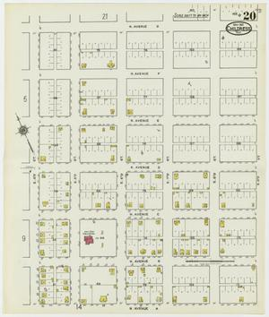 Primary view of object titled 'Childress 1921 Sheet 20'.