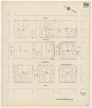 Primary view of object titled 'Fort Worth 1911 Sheet 104 (Skeleton)'.