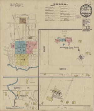Primary view of object titled 'Waxahachie 1890 Sheet 1'.