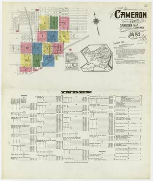 Primary view of object titled 'Cameron 1920 Sheet 1'.