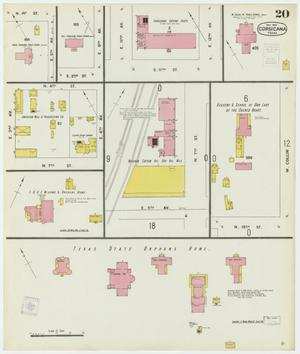 Primary view of object titled 'Corsicana 1900 Sheet 20'.
