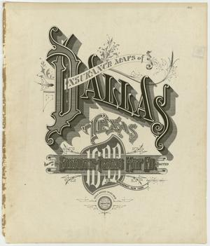Primary view of object titled 'Dallas 1899 - Title Page'.
