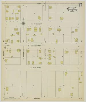 Primary view of object titled 'Mineral Wells 1912 Sheet 17'.