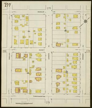 Primary view of object titled 'Dallas 1921 Sheet 277'.
