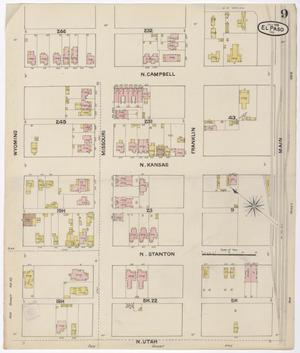 Primary view of object titled 'El Paso 1888 Sheet 9'.