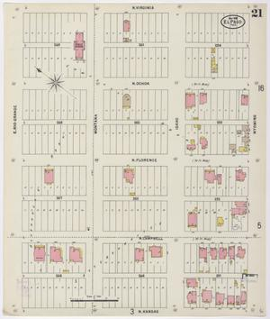 Primary view of object titled 'El Paso 1898 Sheet 21'.