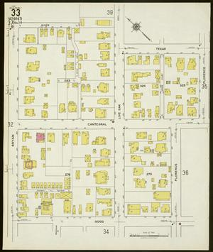 Primary view of object titled 'Dallas 1921 Sheet 33'.