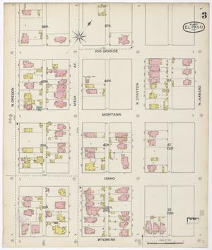 Primary view of object titled 'El Paso 1893 Sheet 3'.