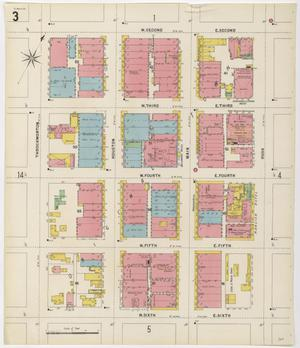 Primary view of object titled 'Fort Worth 1898 Sheet 3'.