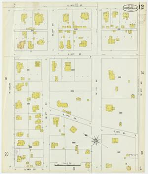 Primary view of object titled 'Corsicana 1900 Sheet 12'.